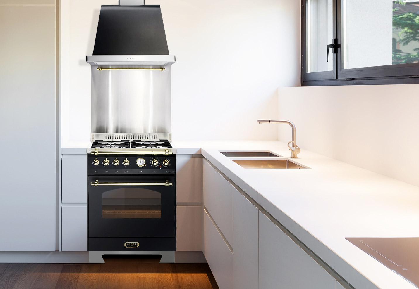 Ett kök med gasolspis